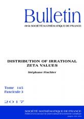 Répartition des valeurs irrationnelles de zêta