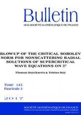 Explosion d'une norme de Sobolev critique pour les solutions radiales non-dispersives de l'équation des ondes surcritique sur $\mathbb {R}^3$