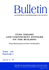 Théorie des types et système de coefficients sur l'immeuble