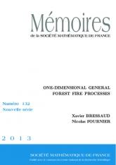 Processus de feux de forêt généraux en dimension 1