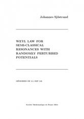 Loi de Weyl pour des résonances semi-classiques associées aux potentiels
