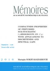 Propriétés de compacité de semigroupes sous-stochastiques perturbés dans $L^{1}$ et applications aux spectres discrets et aux trous spectraux