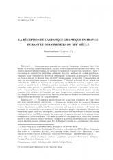La réception de la statique graphique en France durant le dernier tiers du XIXe siècle