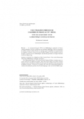 Une utilisation précoce de l'algèbre en France au XV$^{\rm e}$ siècle. smaller Note sur le manuscrit 1339 de la Bibliothèquenationale de France