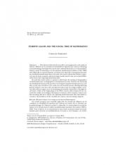 Évariste Galois et le temps social des mathématiques (numéro spécial «E. Galois»)