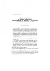 Équations différentielles et transcendants algébriques: les efforts français sur la création d'une théorie de Galois pour les équations différentielles 1880-1910 (numéro spécial «E. Galois»)
