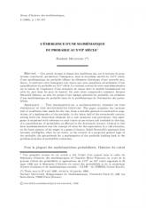 L'émergence d'une mathématique du probable au XVIIe siècle