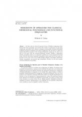 Semigroupes des Opérateurs pour les Polynômes Orthogonaux Classiques et les Inégalités Fonctionnelles