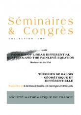 Familles d'équations différentielles linéaires et les équations de Painlevé