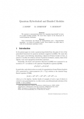 Quantum Hyberboloid and Braided Modules