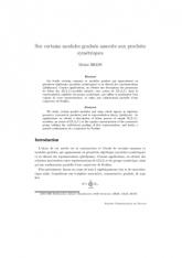 Sur certains modules gradués associés aux produits symétriques
