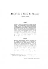 Histoire de la théorie des faisceaux