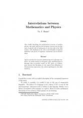 Interrelations between Mathematics and Physics