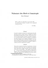 Naissance des fibrés et homotopie