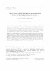 L'action galoisienne et un invariant spin pour les courbes de Prym-Teichmüller en genre 3