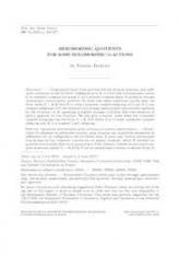 Quotients méromorphes pour certaines G-actions holomorphes