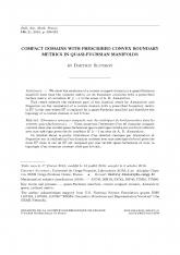 Domaines convexes compacts avec des métriques de bord prescrites dans les variétés quasi-fuchsiennes