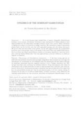 Dynamique de l'hamiltonien dominant