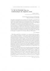 Le rôle de Bourbaki dans les mathématiques du vingtième siècle