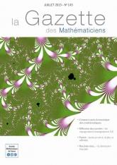 La Gazette des mathématiciens 145 (juillet 2015)