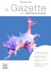 La Gazette des mathématiciens 148 (avril 2016)