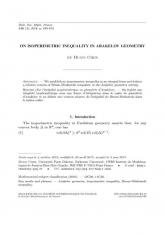 Sur l'inégalité isopérimétrique en géométrie d'Arakelov