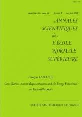 Birapports, représentations d'Anosov et la fonctionnelle énergie sur l'espace de Teichmüller