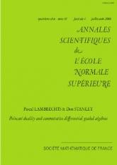 Dualité de Poincaré et algèbres différentielles graduées commutatives