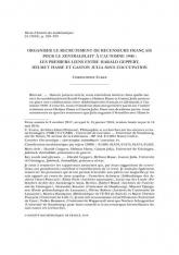 Organiser le recrutement de recenseurs français pour le $Zentralblatt$ à l'automne 1940 : les premiers liens entre Harald Geppert, Helmut Hasse et Gaston Julia sous l'Occupation