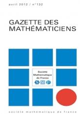 La Gazette des mathématiciens 133 (juillet 2012)