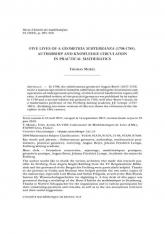 Cinq vies d'une $Geometria$ $subterranea$ (1708-1785). Autorité et circulation des connaissances en mathématiques pratiques.