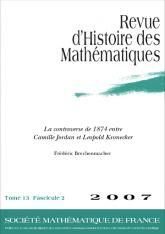 La controverse de 1874 entre Camille Jordan et Leopold Kronecker
