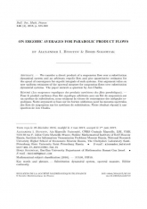 Les moyennes ergodiques des produits cartésiens des flots paraboliques