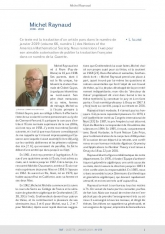 Michel Raynaud (1938 - 2018)