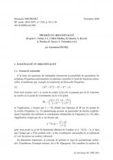 Exposé Bourbaki 1123 : Progrès en irrationalité [d'après C. Voisin, J.-L. Colliot-Thélène, B. Hassett, A. Kresch, A. Pirutka, B. Totaro, Y. Tschinkel $et\ al.$]