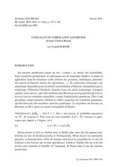 Exposé Bourbaki 1124 : L'inégalité de corrélation gaussienne (d'après Thomas Royen)