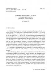 Exposé Bourbaki 1130 : Laplacien hypoelliptique géométrique et intégrale orbitale (d'après Bismut, Lebeau et Shen)