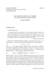 Exposé Bourbaki 1134 : Le théorème de la valeur moyenne de Vinogradov (d'après Wooley, et Bourgain, Demeter et Guth)