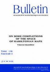 Sur certains complétés de l'espace des applications hamiltoniennes