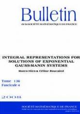 Représentations intégrales des solutions des systèmes de Gauß-Manin exponentiels