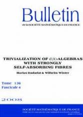 Trivialisation de $\mathscr{C}(X)$-algèbres à fibres fortement auto-absorbantes