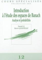 Introduction àl'étudedesespacesdeBanach Analyse et Probabilités