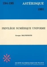 Privilège numérique uniforme