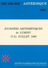 Journées Arithmétiques de Luminy