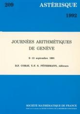 Journées arithmétiques de Genève