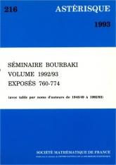 Séminaire Bourbaki, volume 1992/93, exposés 760-774