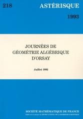 Journées de géométrie algébrique d'Orsay