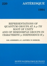 Representations of quantum groups at a $p$-th root of unity and of semisimple groups in charactersitic $p$: independence of $p$
