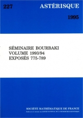 Séminaire N. Bourbaki, volume 1993/94, exposés 775-789