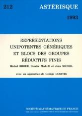 Représentations unipotentes génériques et blocs des groupes réductifs finis